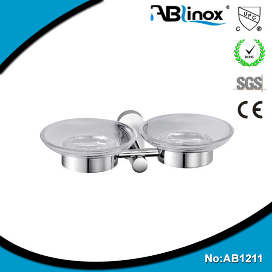 304 Stainless Steel Bathroom Accessories / Bathroom Double Soap Dish Holder pictures & photos