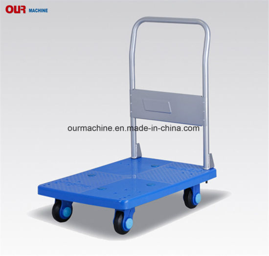 China Manufacturer Plastic Platform Trolley, Hand Platform Truck 400kg