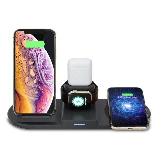 China 15w Wireless Charger Wireless Charging Stand Pad For Iphone 12 11 Pro Max Xs Xr X 8 Plus Airpods Pro Samsung Galaxy S10 S9 S8 Samsung Watch China Fast Charger And Mobile Charger Price
