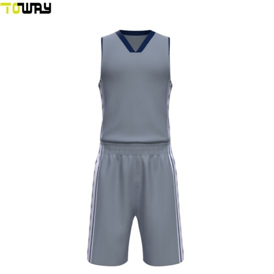 1ecf61762ceb China Grey Blank Mesh Basketball Uniforms Jersey - China Blank Mesh ...