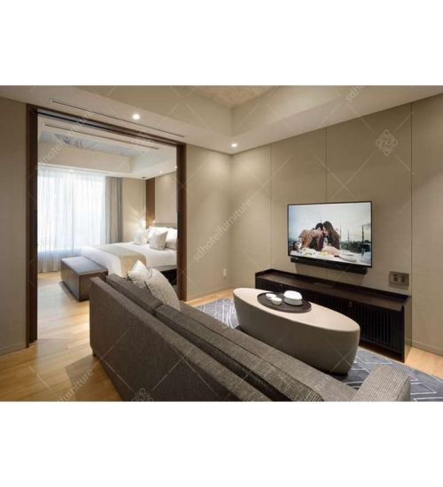 Custom Chinese Apartment Size Bedroom Furniture for Hotel (DL 12)