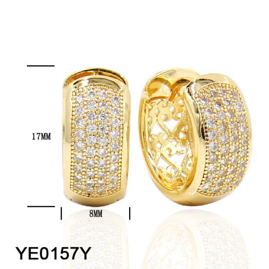 China 2018 Latest Design Large Gold Hoop Earrings