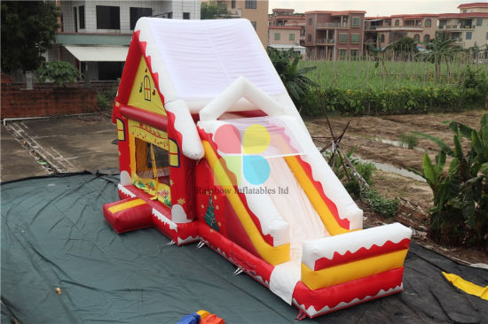 New Style Factory Price Inflatable Christmas Bouncer Slide Christmas Snow-Inflatables Bouncers Combo pictures & photos