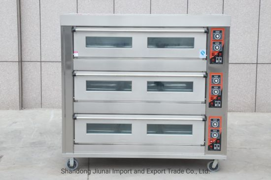 9 Trays Jiunai Commercial Bakery Bread Oven for Pizza Baking