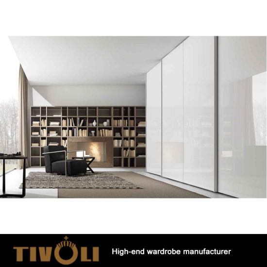 Modern Book Shelf Custom Wardrobe Designs and Walk in Closet TV-0352
