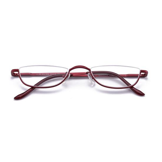 7dc4ff4732 China Half Frame Women Semi-Rimless Spectacles Half Rim Reading ...