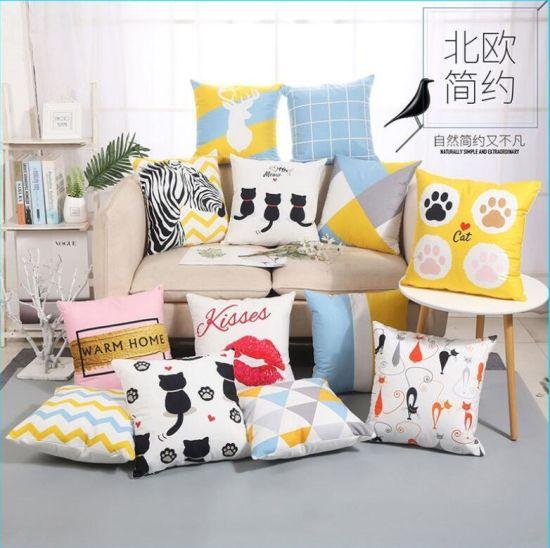Imitation Super Soft Print Cushion