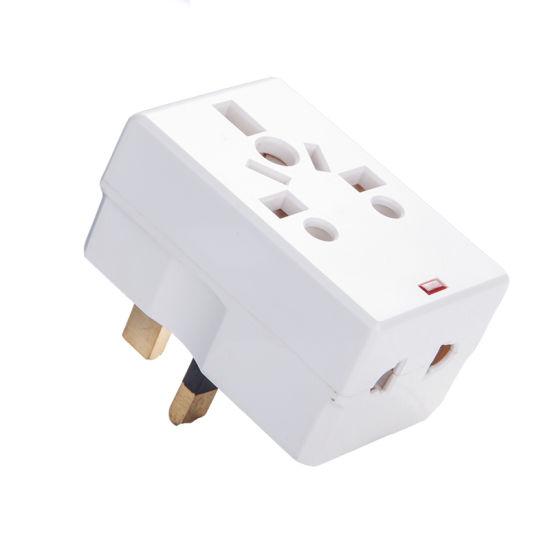 China 13 Amp Multi Socket Plug Adapter