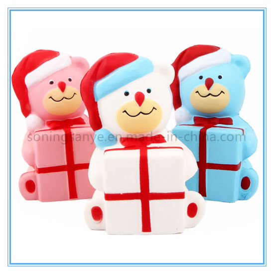 DTY0106 Xmas Bear Squishy Super Soft Squishy Slow Rising Collectible Toys