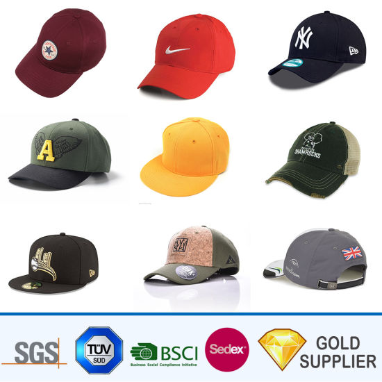 Manufacturer in China Bulk Cheap Custom Design Your Own Promotional Nylon 3D Embroidery Army Hats Sample Free Quick Dry 5 Panel Brand Baseball Cap pictures & photos