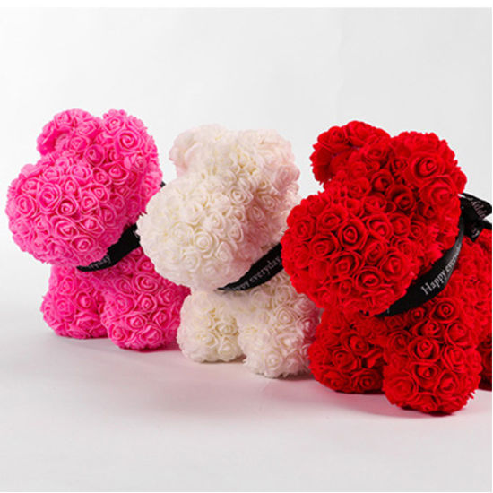 Office Gifts Decoration Promotional Artificial Flower Rose Dog