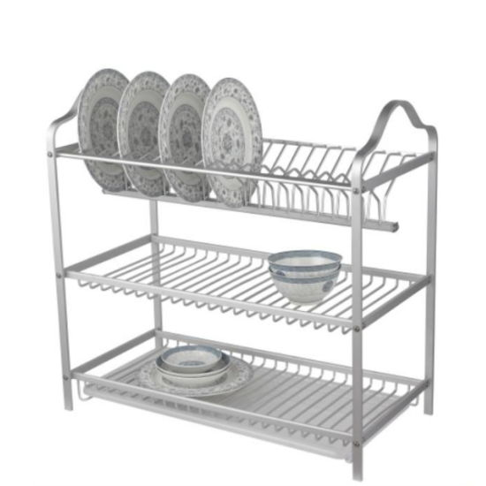 3 Tiers Stainless Steel Metal Kitchen Storage Racks and Shelves for Kitchen