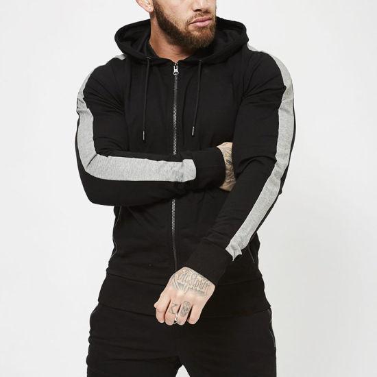 6db35099 Bulk Wholesale Custom Polyester Cotton Slim Fit Hoodie for Men Fashion Plain  Black Hoodies