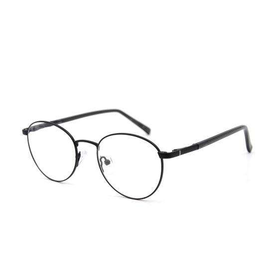 Higo Optical Latest Design Pink Classic Round Metal Eyeglasses Optical Frame