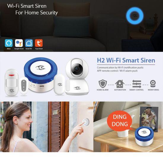 Smarsecur Tuya Smart Life Tuya Smart WiFi Motion Sensor Door Sensor  Detector Siren Alarm System Compatible with Alexa