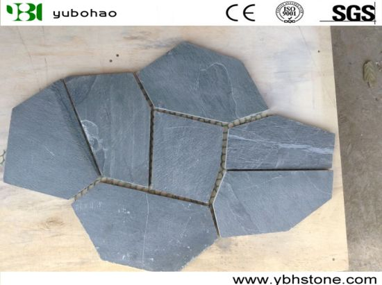 Popular White/ Grey Slate Mosaic Pattern for Exterior Wall Decoration