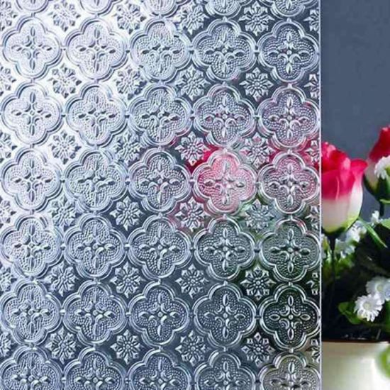 Wholesale Price 4mm 5mm Colored Fluted Glass for Home Decoration Flora Pattern Glass