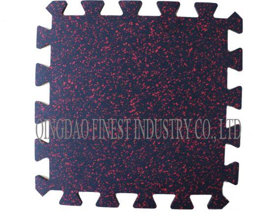 Interlocking Puzzle 10% EPDM Speckles Rubber Mat