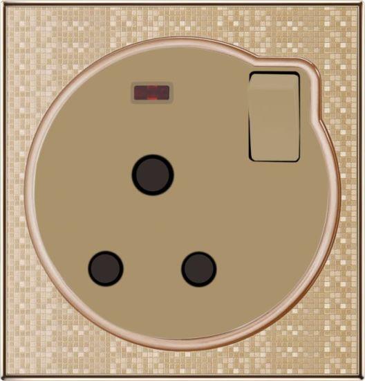 Round Shape 1 Gang 15AMP Electrical Outlet Socket