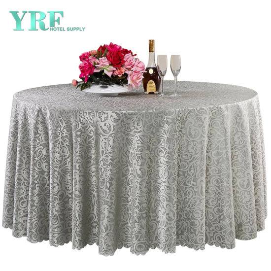 "6 restaurant wedding linen table cloths poly round 120/"""