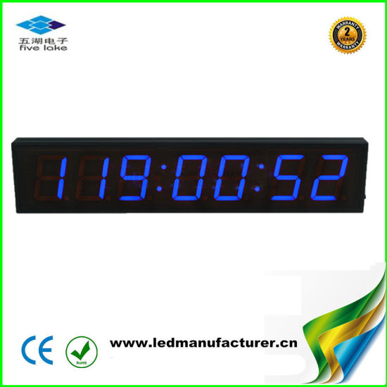 4 Inch 7 Digit Blue Programmable Days Countdown Timer Clock