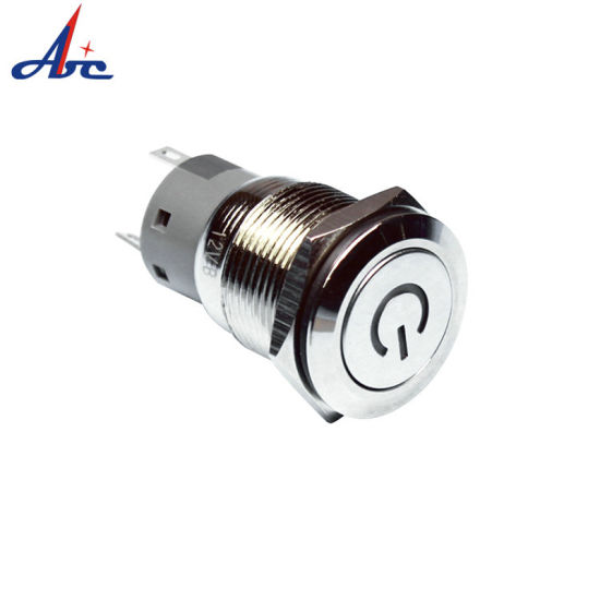 IP67 Waterproof Metal 19mm Push Button Switch with Power Symbol pictures & photos