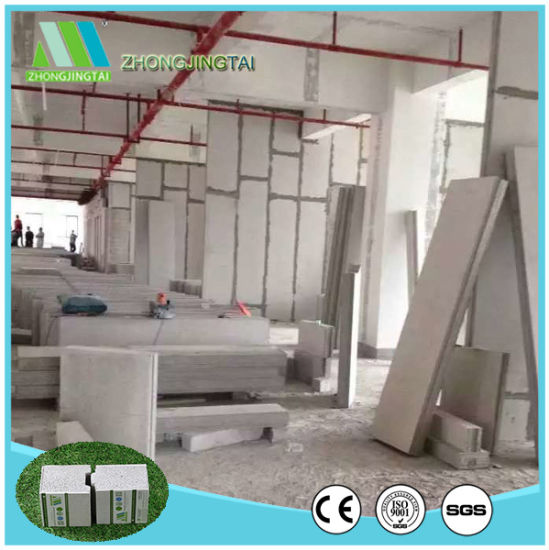 Eco-Friendly 100% Non-Asbestos Waterproof/Fireproof/Soundproof Composite Cement Sandwich Wall Panels pictures & photos