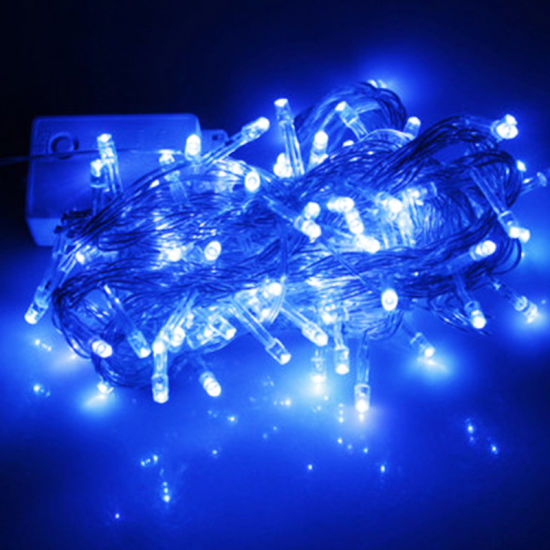 100 LED 10m Christmas Wedding Blue Fairy String Lights with 8 Function Controller