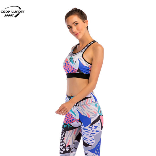 Cody Lundin High Waist Sport Wear Yoga Pants Workout Vest Activewear Body Suit Wholesale Fitness Tracksuit for Women Polyester Spandex Wear Gym Apparel Bra Set
