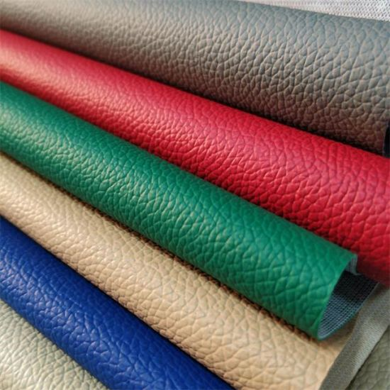 China Knitted Pvc Leather For Car Seat Covers Leather High Quality