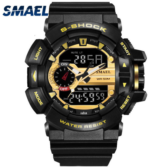 2018 Classical Plastic Digital Analogue Watch, Sporty Watch, Water-Resistant Watch