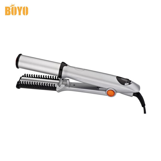 2 in 1 Hair Straigtener Curling Tongtitanium Rotating Iron Max Wet to Dry 2-Way Rotating Iron