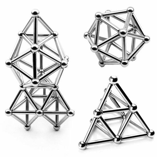 36PCS Bar Magnetic Sticks 27PCS Steel Balls Neodymium Magnetic Balls and Bars
