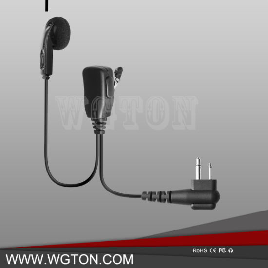 China Two Way Radio Handsfree 2 Pin Earbuds Earpiece With Ptt Mic For F7010s Ip100h Ic F29 Ic F51 Ic M25 Walkie Talkie China Two Way Radio And Icom Earpiece Price