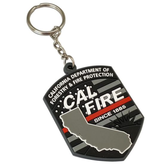 Professional Custom Us Falg Decoration Accessories PVC Keyrings Company Activity Souvenir Key Tag Wholesale Rubber Keychain in China Factory