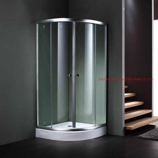 Round Simple Shower Room for Bathroom