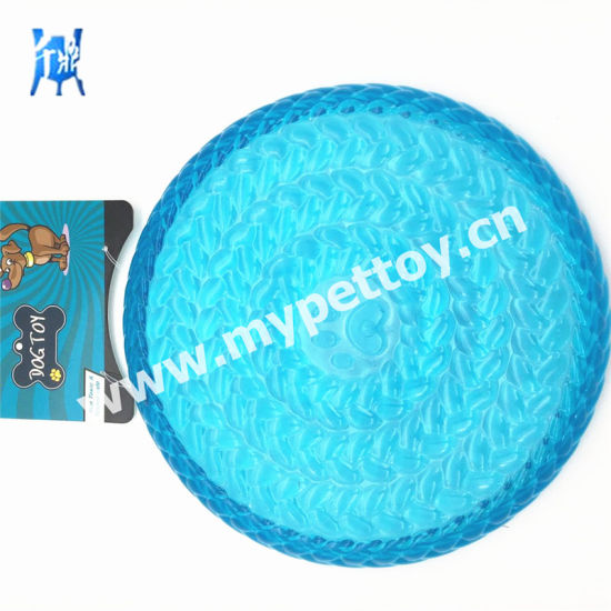"9""in TPR Frisbee Flying Disc Dog Toy Pet Toy Bite Toy Clear Transparent Soft Frisbee Outdoor Training pictures & photos"