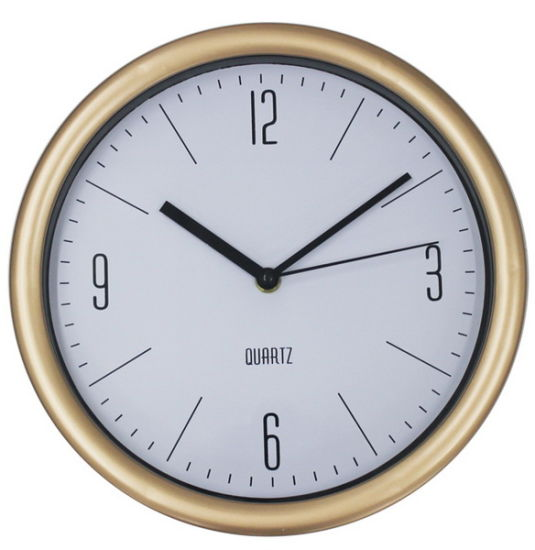 Factory Wholesale Promotional Gifts 12 Inch Round Plastic Quartz Wall Clock pictures & photos
