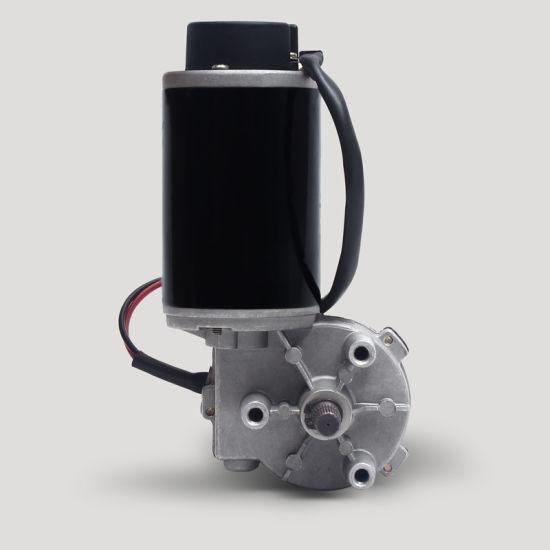 24V 30W 59mm Diameter Micro DC Worm Gear Motor with Encoder