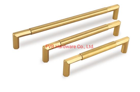 Brushed Brass Modern Cabinet Hardware T Bar Knobs Dresser Pulls