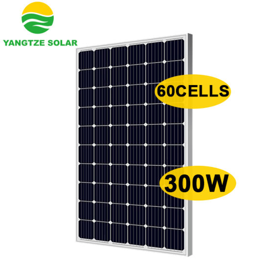 60 Cells Mono 300W Solar Panel Yangtze Solar China Factory Shop