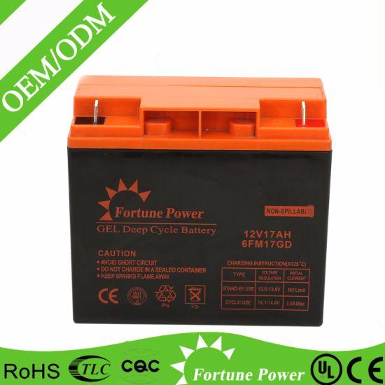 Uninterrupted Power Supply Sealed Lead Acid Battery 12V 17ah