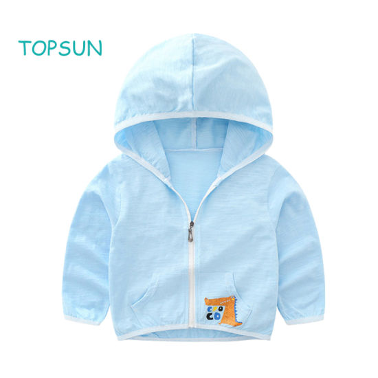 Toddler Boys Sun Protective Clothing Children Baby Summer UV Protection Hoodie 3-10t