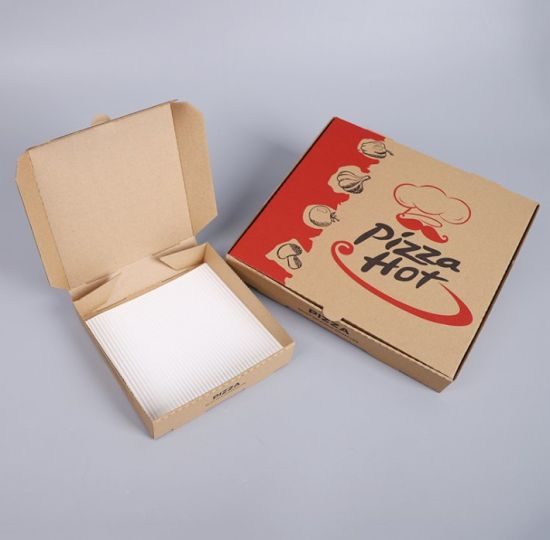 6 Inch 8 Inch 10 Inch 12 Inch Pizza Box High Quality Brown Kraft Pizza Box Pizza Packing Box