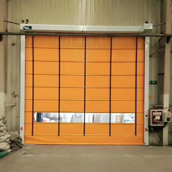 Automatic Windproof High Speed Folding up Door for Exterior Use