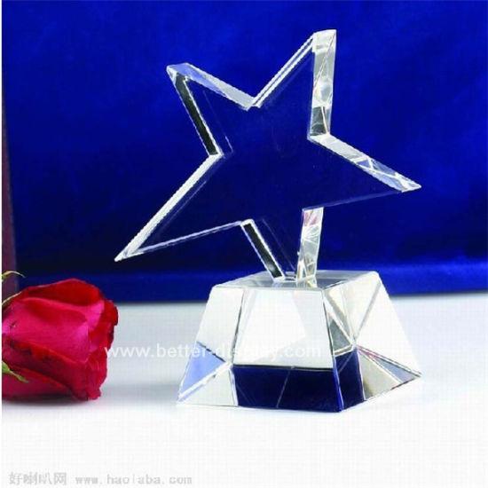 Acrylic Crystal Star Trophy Laser Engraving Award (BTR-I 7042)