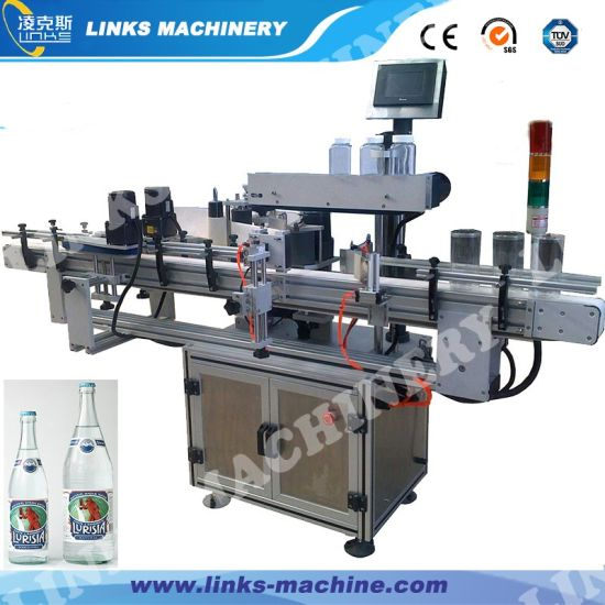 Automatic Double Side Bottle Labeling Machine with Adhesive Label pictures & photos