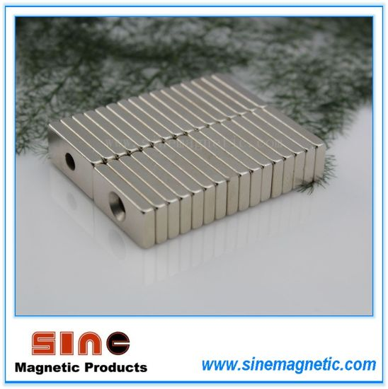Hightemperature- Rectangle /Block Magnet with Hole (N35SH/ N45SH / N48H)