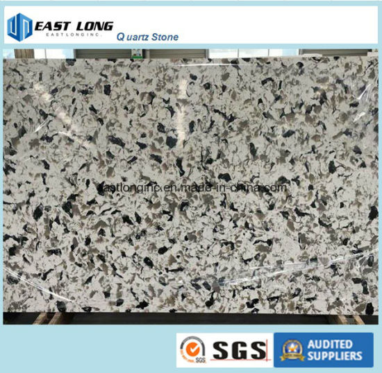 New Designed Marble Color Quartz Slab Table Top For USA/ Ca Market