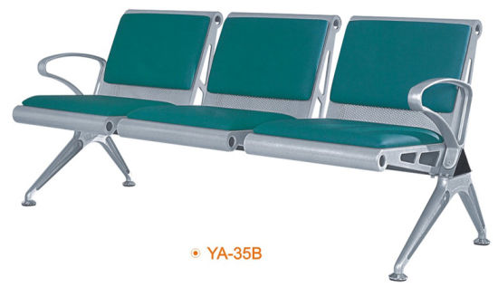 Metal Steel 3 Seaters Cheap Price Waiting Chairs For Salon (YA 35B)